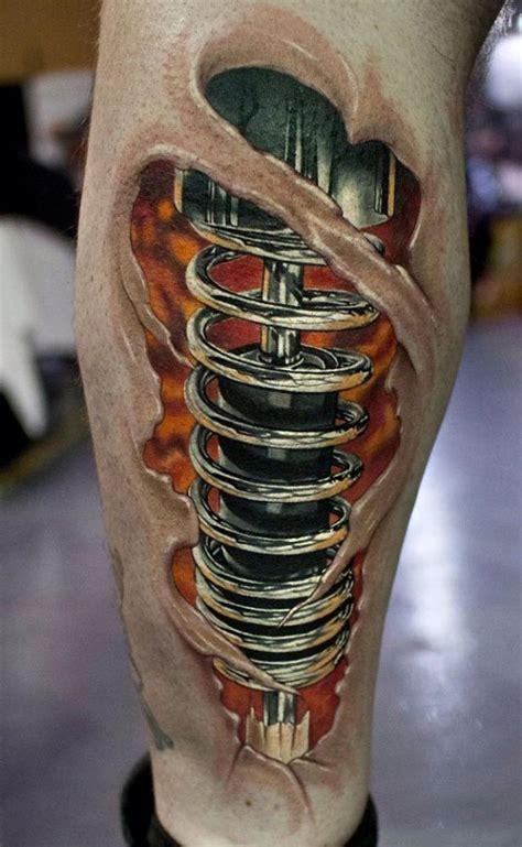 tatuaż na łydce amortyzator tatoo pinterest tattoo