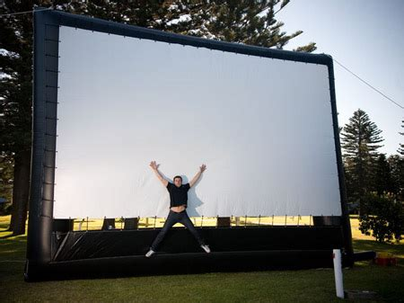 backyard big screen outdoor movie theater system large inflatable projection