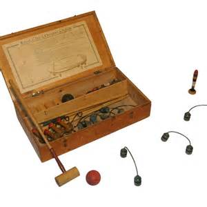 jeu de croquet de salon en bois et m 233 tal antiquit 233