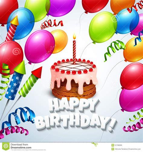 clipart auguri cartolina d auguri di buon compleanno con il dolce e