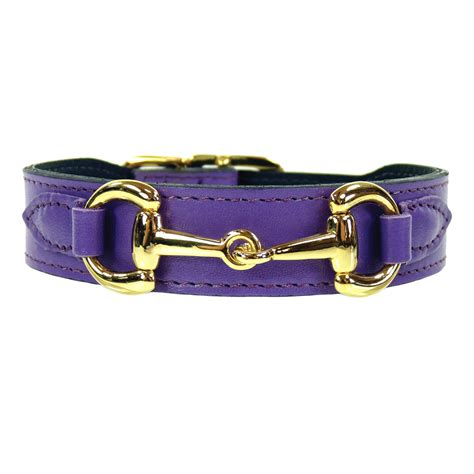 gucci collar belmont in lavender gold belmont collars leads hartman