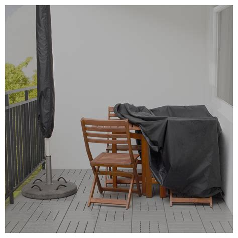Toster 214 Cover For Furniture Set Black 145x145 Cm Ikea Ikea Outdoor Furniture Covers