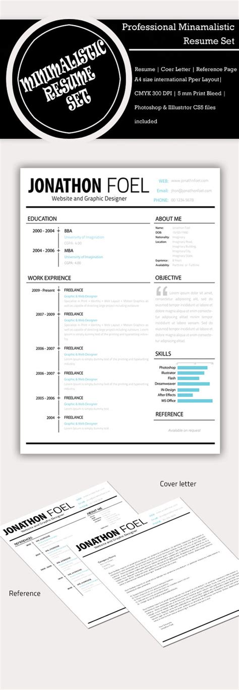 minimalistic resume template psd by simanto 90 on deviantart