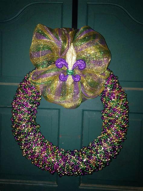 mardi gras bead wreath mardi gras bead wreath mardi gras mardi
