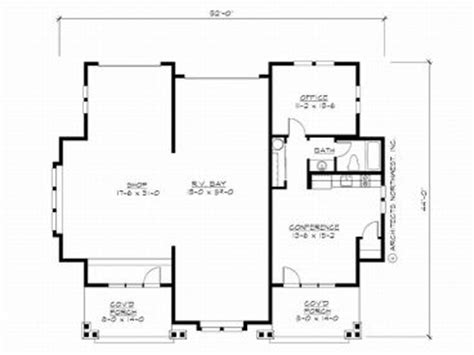 Garage Floor Plans With Workshop by Unique Garage Plans Unique Garage Workshop Plan With Rv