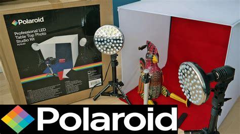 polaroid pro table top photo studio kit polaroid pro led table top photo studio kit unboxing set