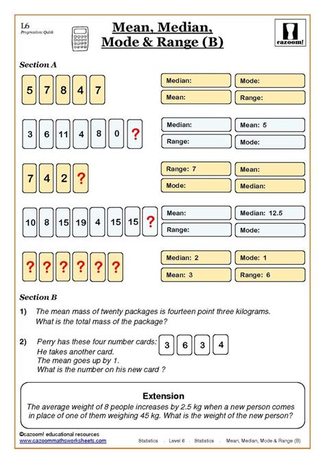 printable math worksheets statistics statistics worksheets statistics math worksheets and