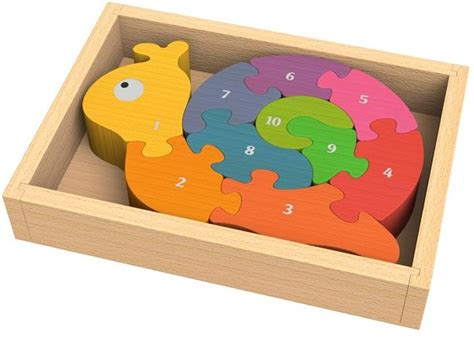 Chunky Puzzle Numbers Puzzle Chunky Angka number snail chunky wooden puzzles