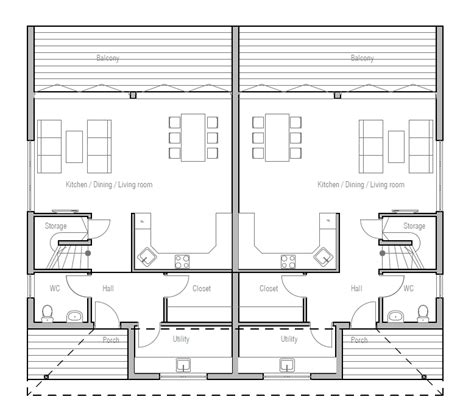 modern duplex floor plans ch191d modern duplex house plan duplex house plans