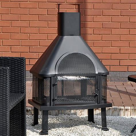 Log Burner Chiminea Kingfisher Lbbq Bbq Time Log Burner Chiminea Bbq Black
