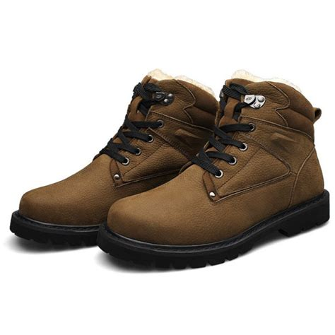 black lace up mens boots buy mens winter warm shoes khaki black lace up boots