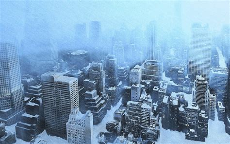 City Snow by Snow City Wallpaper 1680x1050 Wallpoper 261530