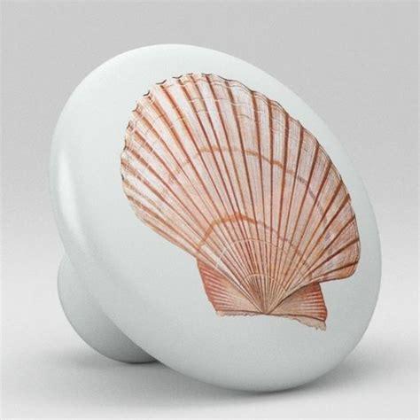 sea shell ceramic knobs pulls kitchen drawer cabinet