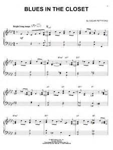 blues in the closet sheet by oscar pettiford piano