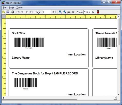 Library Label Printer Deluxe Database Plus Label Printer Software For Windows Library Spine Label Template