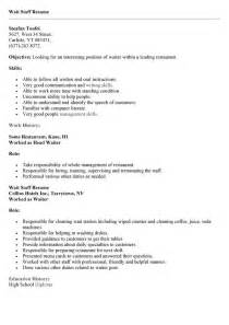 sle resume for waiter position resume objective statements sles cashier resume