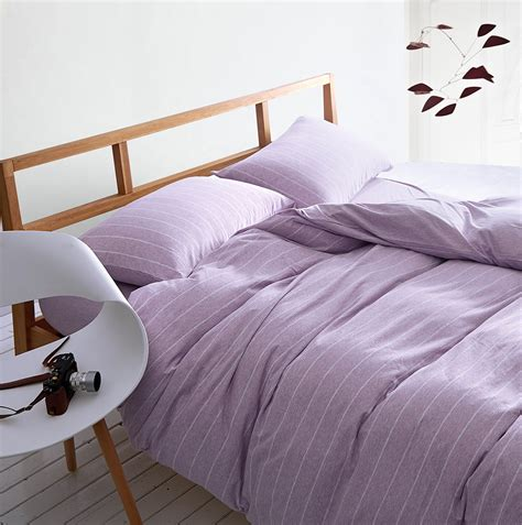 Bed Cover Sprei Murah 1 100 knit cotton bedding sets stripe duvet cover set bed covers japan style home textile housse