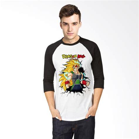Tshirt Kaos Raglan Oneck Pria Cowok Putih Combed Murah jual t shirt 3d bardock raglan kaos pria