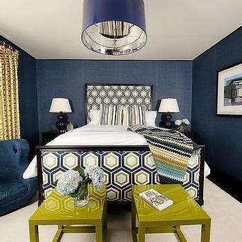 blue and gold bedroom interior design inspiration photos by tiffany richey design