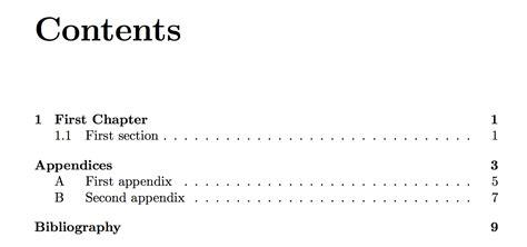 latex appendix section appendices adding appendix quot chapters quot without sections