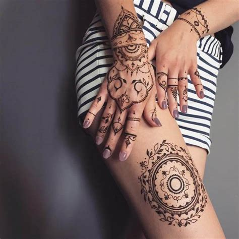 henna tattoo hand leicht trendy and mehndi design for legs 2018