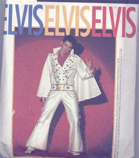 Elvis Jumpsuit Pattern Sewing | elvis adult costume sewing pattern simplicity 8651 white