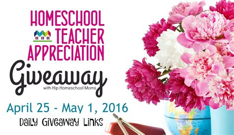 Daily Giveaway - 2016 homeschool teacher appreciation week daily giveaway