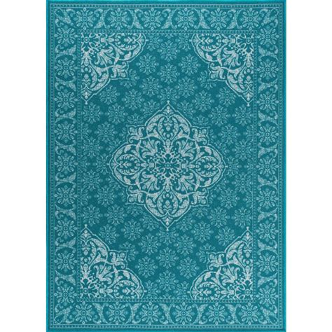 5 X 7 Area Rug Tayse Rugs Majesty Teal 5 Ft X 7 Ft Traditional Area Rug Mjs3615 5x7 The Home Depot