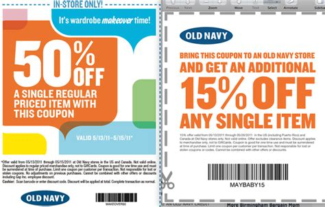 old navy coupons mobile old navy printable coupons 15 50 off al com