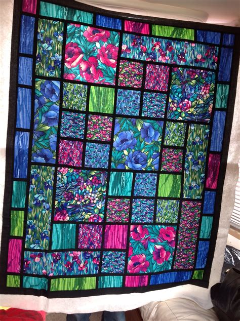 Stained Glass Quilt by Stained Glass Type Quilt