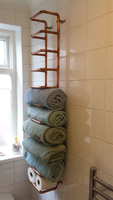 storage towels small bathroom tendencias en dise 241 o cobre
