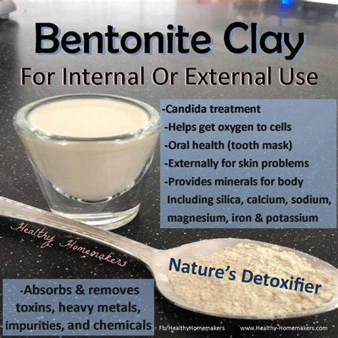 Benzonite Clay For Detox bentonite clay health