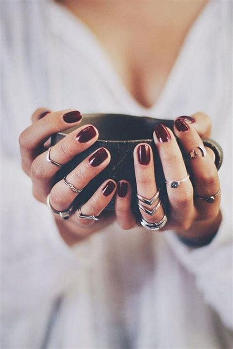 wine colored nails wine colored nails rings fashion