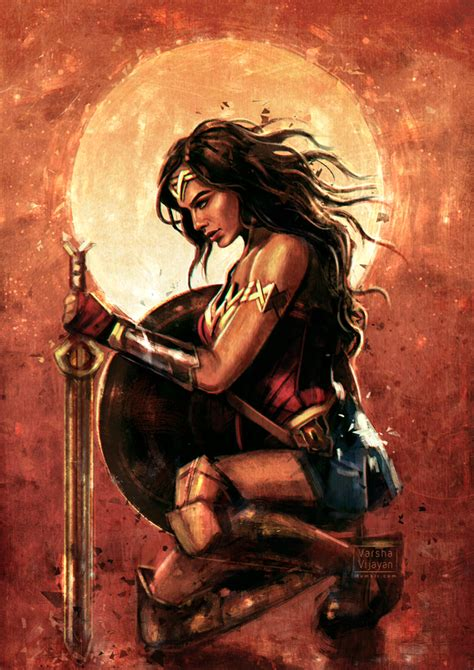 wonder woman the art wonder woman by varshavijayan on