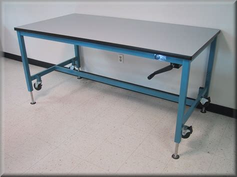 work bench on wheels lift tables at rdm adjustable tables a107p