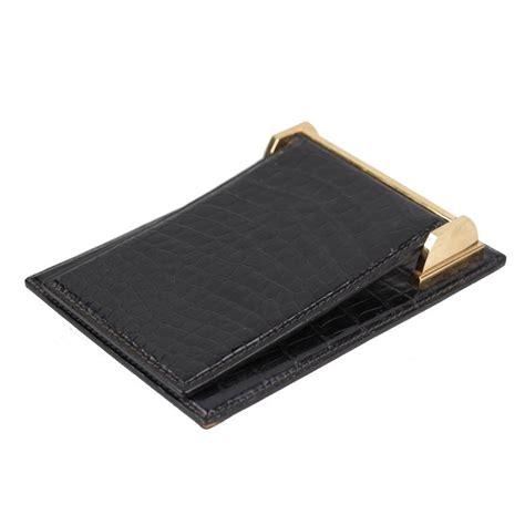 Desk Notepad L gucci vintage black crocodile leather desk notepad cover