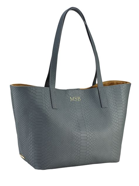 new york tote gigi new york personalized embossedleather teddie tote in