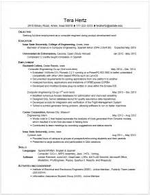 Engineering Student Resume Exles engineering student resume learnhowtoloseweight net