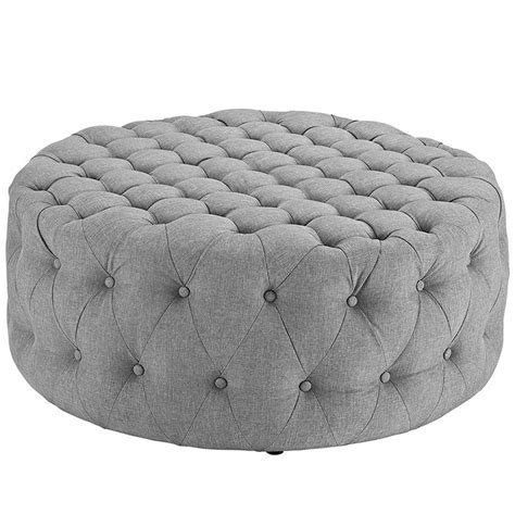 fabric tufted ottoman tufted fabric ottoman modern furniture brickell