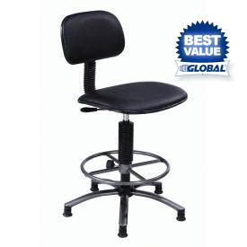 Vinyl Stools by Stools Vinyl Upholstered Interion 174 Vinyl Production Stool With Footring Globalindustrial