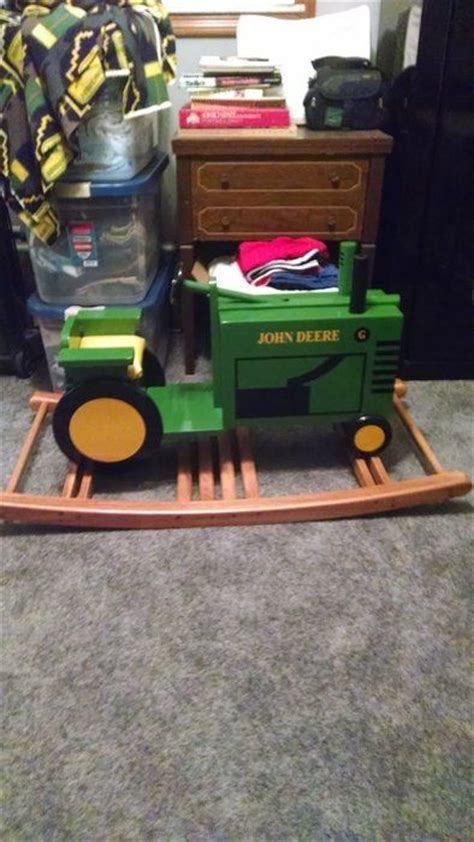 rocking tractor wood toys  boys kids wood wood