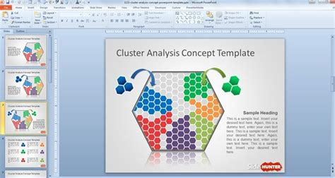 data mining template free cluster analysis concept powerpoint template