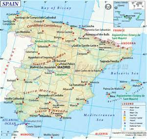 Spain Map With Cities by Big And Beautiful Map Of Spain The World Pinterest