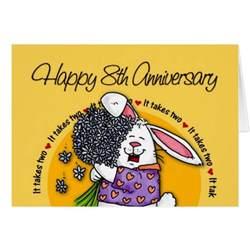 wedding happy 8th anniversary greeting card