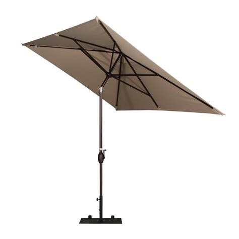 Outdoor Patio Umbrella Abba Patio 6 6x9 8 Ft Market Outdoor Patio Umbrella With Push Button Tilt And Crank Beige