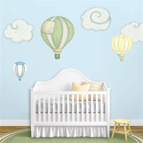 Hot Air Balloon Cloud Wall Stickers For Baby Nursery Air Balloons Nursery Decor