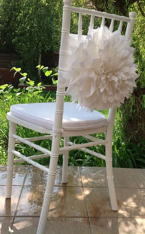 Flower chair sash   Tissue paper flowers, Wedding and Blossoms