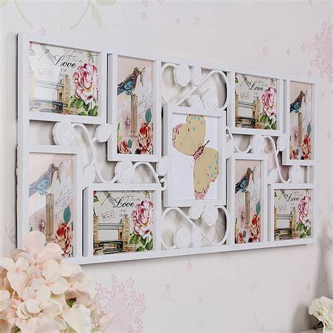 White Multi Photoframe Frames Flower Picture Wall Decor