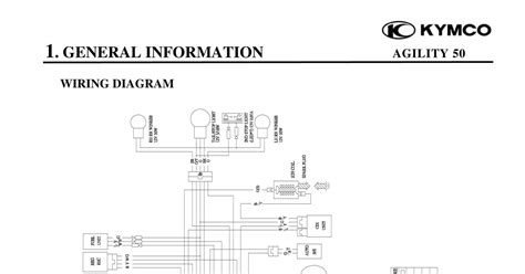 kymco agility 125 wiring diagram idea di immagine