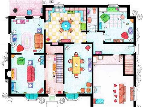 the simpsons floor plan floor plans of homes from tv shows business insider